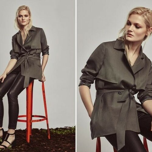 Reiss Nadia Relaxed Belted Mac Jacket Trench Coat