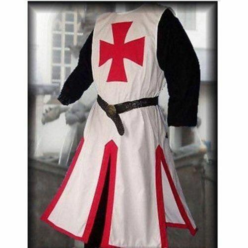 Medieval Templar Knight Crusader Surcoat Sleeveless Reenactment