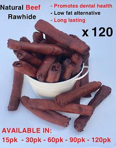 120-Natural-Beef-Rawhide-Retrievers-Rolls-Logs-Sticks-Long-Lasting-Chew-16cm