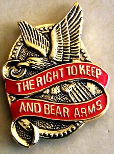 2nd-Amendment-Right-to-Keep-and-Bear-Arms-Pin-Hat-lapel-shirt-etc-Made-USA