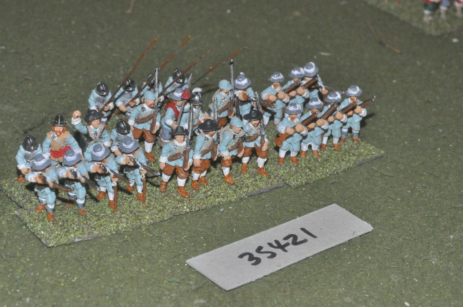25mm ECW   royalist - regt 28 figures - inf (35421)