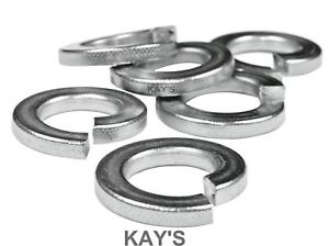 """UNC UNF BSW BSF SPRING WASHERS 3//16,1//4,5//16,3//8,7//16,1//2,5//8,3//4/"""" ZINC SQUARE"""