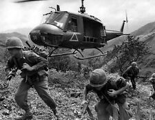 "Huey Helicopter provides fire support for US Troops 8""x 10 Vietnam War Photo 227"