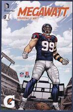 JJ WATT MEGAWATT COMIC BOOK # 1 ISSUE DC ENTERAINMENT HOUSTON TEXANS