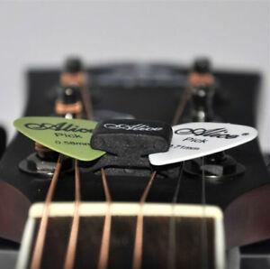 One-Black-Guitar-HeadStock-Pick-Holder-Rubber-2Pcs-Mixed-Guitar-Picks-CH