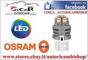 COPPIA-LAMPADINE-POSIZIONE-LED-OSRAM-LEDriving-W21-5W-OPEL-CORSA-D-Lumen-170-50