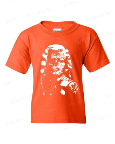 Marilyn Monroe Skull Youth/'s T-Shirt Day Of The Dead Bombshell Pinup Tattoo Tee