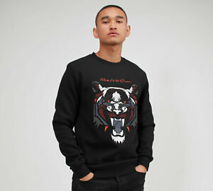 Kings-Will-Dream-Mens-New-KWD-Crew-Neck-Sweatshirt-Long-Sleeve-Black-Demon