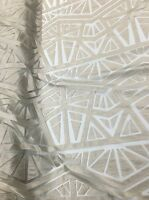 Dress Silver Apparel Faux Leather Geometric Stitch Lace Fabric Sold By The Yard