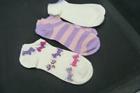 : Le Gale Set Of Scottie Dogs/ Stripes/ White... No Show Socks... Size 9-11