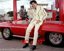 "Elvis Presley~Sports Car on Phone~16"" x 20""~Poster~Photo"