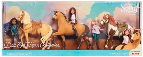 Spirit Riding Free Exclusive 3 Horse Boxed Toy Set Abigail Pru Lucky Chica NEW