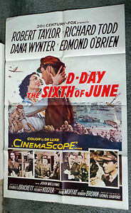 D-DAY THE SIXTH OF JUNE original WW2 1956 movie poster ...