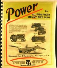 Minneapolis Moline Power For All Farm Work Any Size Farm Twin City Sales Book