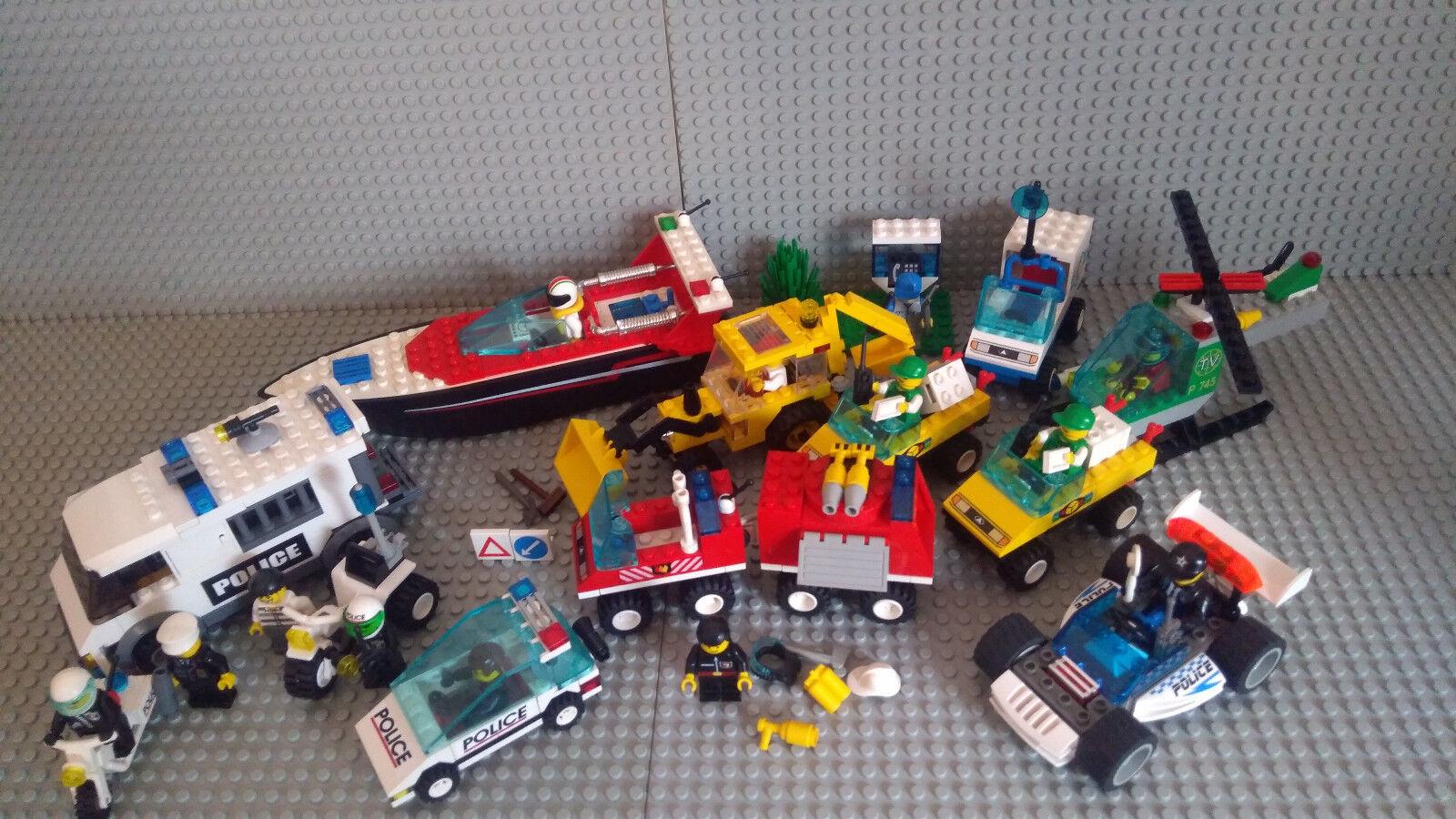 Lego City Konvolut 4002, 4304, 4600, 6325, 6422, 6425, 6486, 6625, 6662, 7245