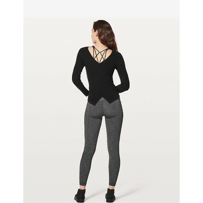 NWT lululemon Wrap It Back Sweater Size4 BLACK