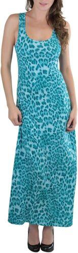 ToBeInStyle Women/'s Stretchy Scoopneck Animal Print Racerback Maxi-Dress
