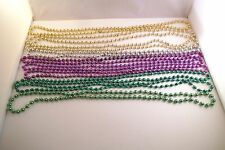Mixed Lot of 10 Plastic Mardi Gras Beads Beaded Necklaces