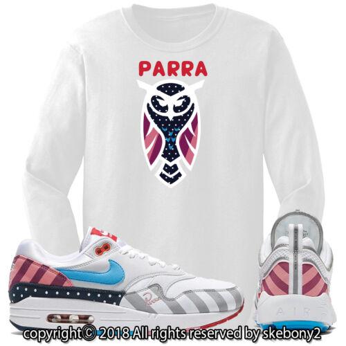 NEW CUSTOM T SHIRT matching Parra x Nike Air Max 1 And Spiridon JD 1-19-5-L