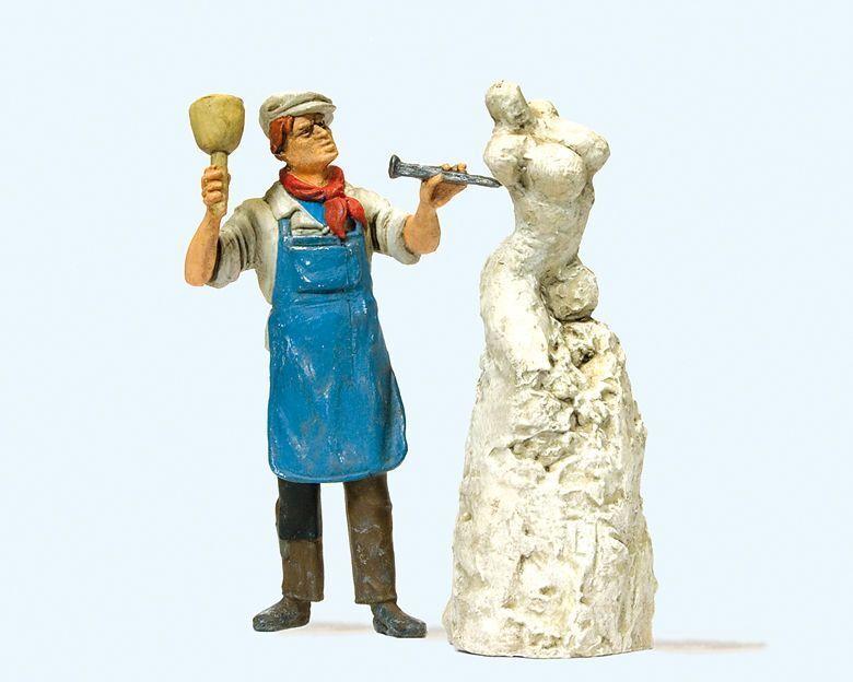 Preiser 44901 1 Figur, Bildhauer mit Skulptur    für LGB Gartenbahn 1 22,5 2fe71e
