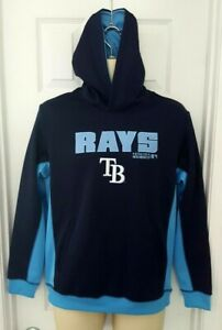 TAMPA-BAY-RAYS-Youth-Hoodie-Size-Large-14-16-Stitched-Embroidered-Logo-Blue-New
