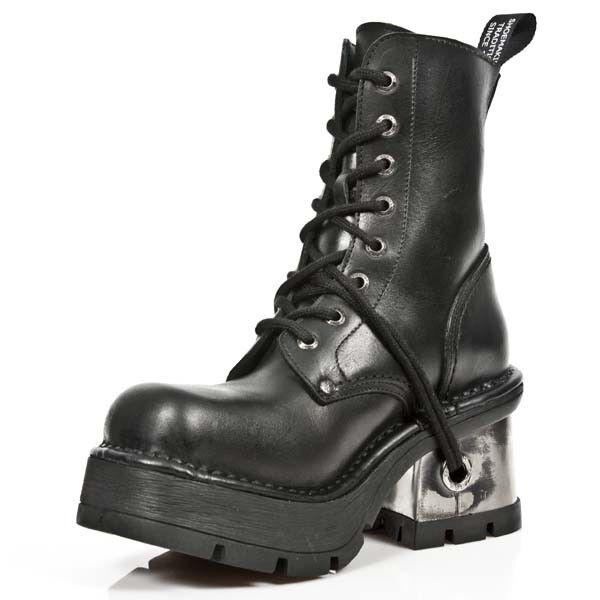 New New New Rock NR M.8355 S1 Black - Boots, Metallic, Women 927d5a