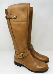 2c99422253d1c4 Naturalizer Women's Jenelle Tall Boot Tan Leather Size 8M, MSRP ...