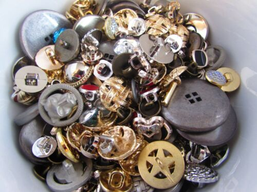 Metal and Sparkly Centre Button Assortment Assorted Pack Sizes and Buttons