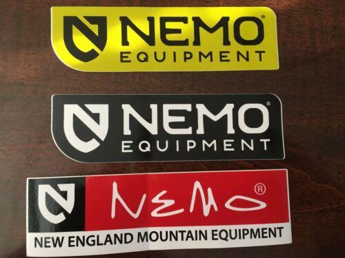 Lot of 3 NEW NEMO New England Mountain Equipment Logo Sticker Decal