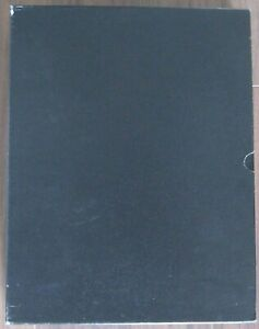BLACK-LEATHER-LIGHTHOUSE-ALBUM-WITH-12-BLACK-EMPTY-PAGES-SLIP-CASE-PRE-OWNED