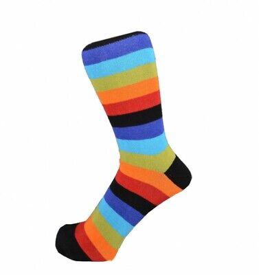 STRIPED//STRIPEY Mens//Unisex Cotton-Rich VIOLET//PURPLE//WHITE//BLUE Socks UK 6-11