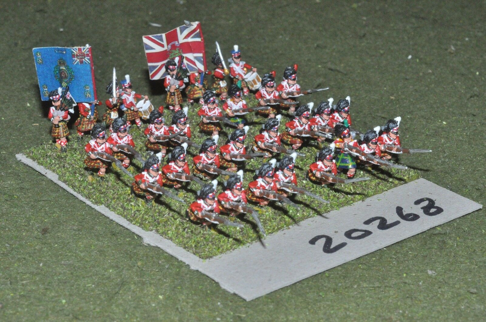 15mm napoleonic   british - highland infantry 32 figs - inf (20268)