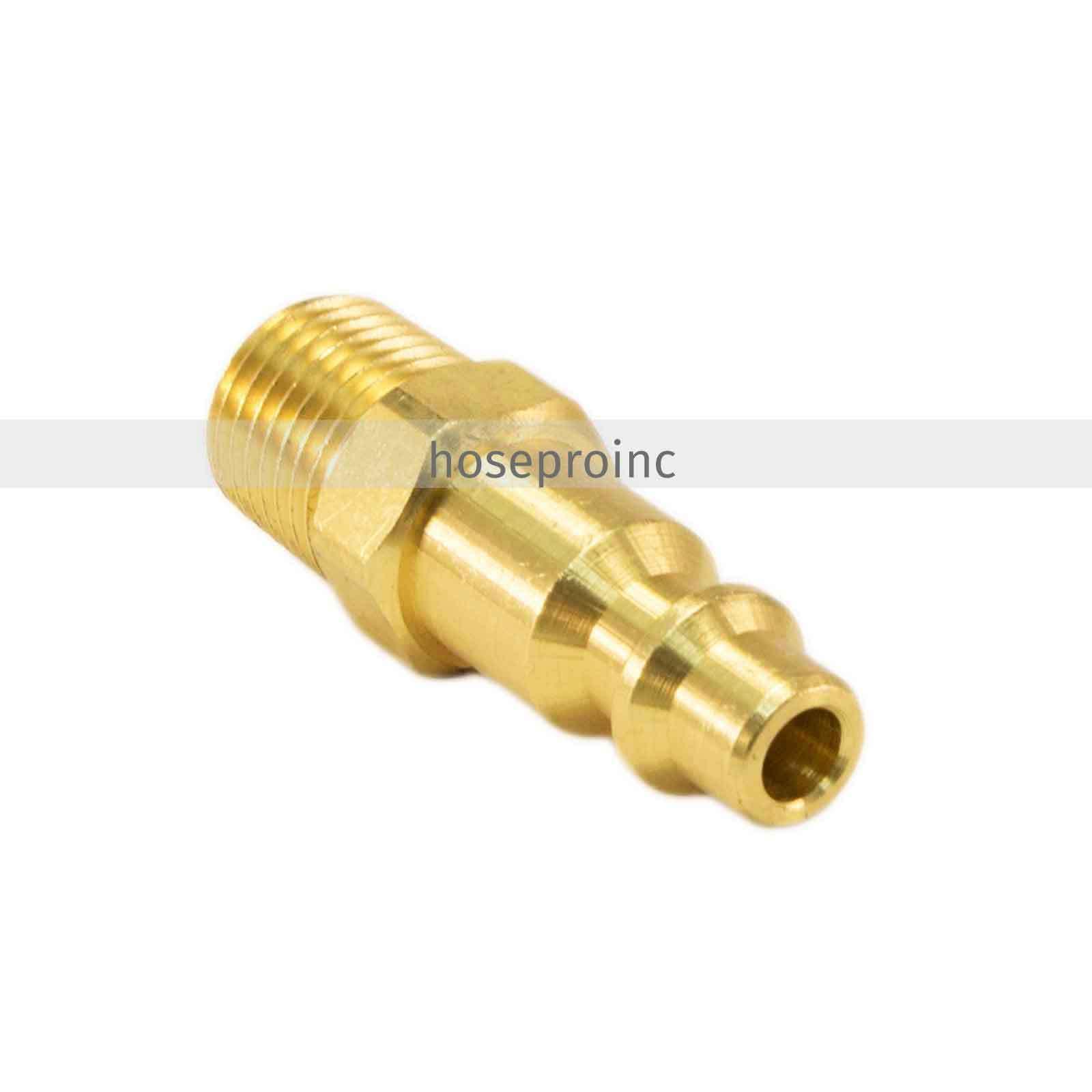 25pc 1/4 NPT Air Hose Fittings M M M Style Tool Line Compressor Construction Plug db7ac9