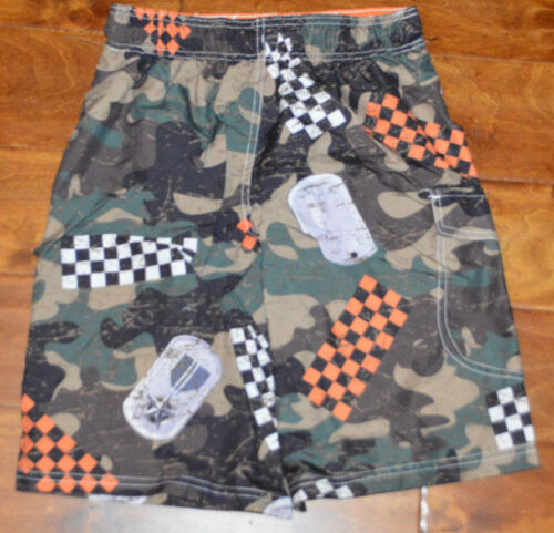 Op Sizes 8 Slip Boy's On 10 Shorts Drawstring Green 12 amp; Swim Brown Camo 4vdvPX
