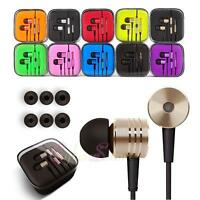 Earbuds Headphones Piston Metal 3.5mm Universal Buttons With Mic And Remote