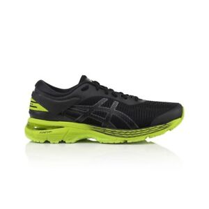 Asics Gel Kayano 25 Men's Running Shoes - Black/Neon Lime