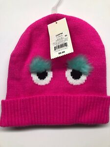 0f857bf131311 Cat   Jack Knit Pink Monster Winter Hat With Fleece Liner One Size ...