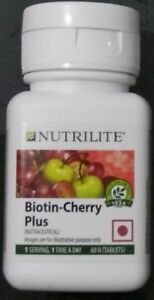 Amway-Nutrilite-Biotin-Cherry-Plus-For-Hair-Skin-amp-Nails-1-X-60-Tablets