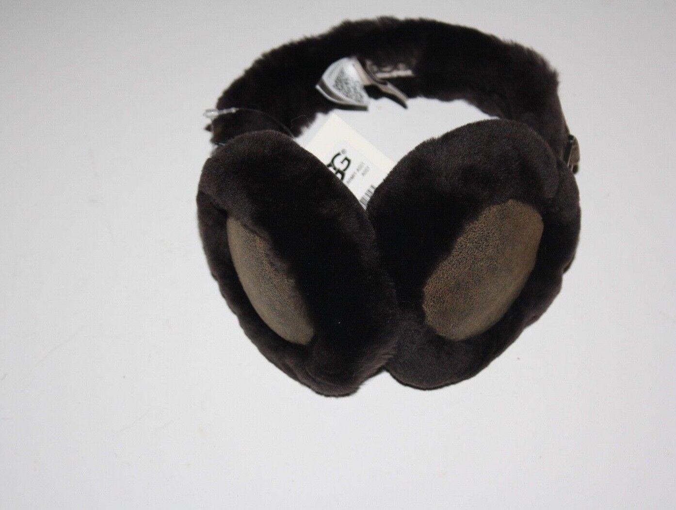 UGG Australia Cache-oreilles en peau de mouton et peau de mouton brun, taille unique, Territoires du Nord-Ouest