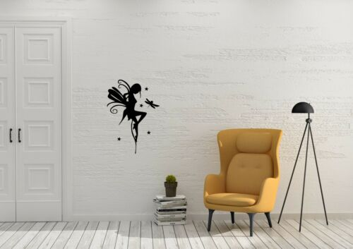 Fairy And Her Dragonfly Inspired Design Bedroom Wall Art Decal Vinyl Sticker