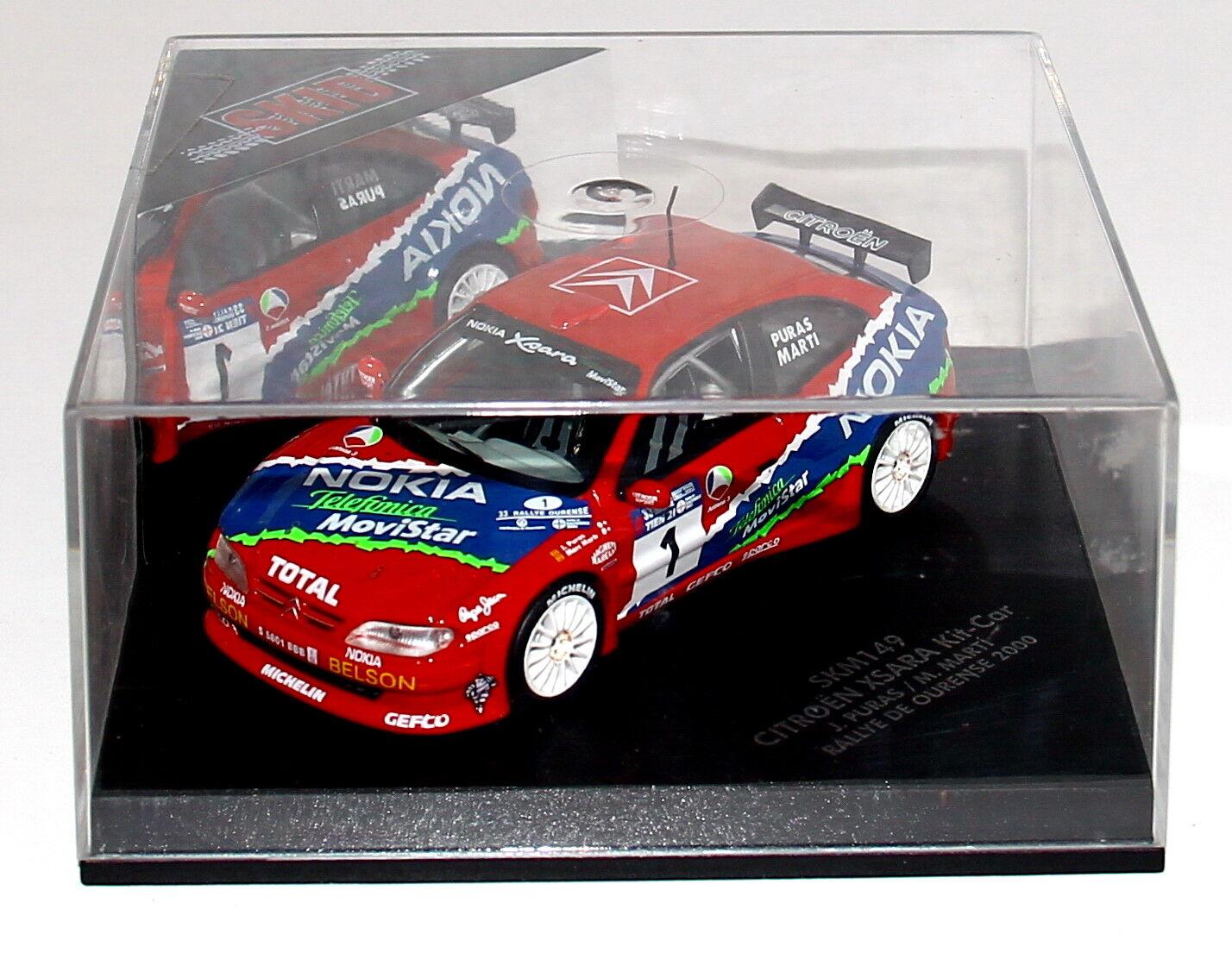 Skid SKM149 1 43 Citroen Xsara Kit Car Rally de Orense 2000 Puras RARE