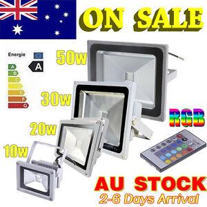 10-20-30-50W-RGB-Led-Flood-Outdoor-Lamps-Light-IP65-Remote-Control-Cool-Warm-AU