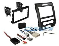 Double Din Car Stereo Dash Trim Kit Bezel W/ Interface Wire Harness & Swc on sale