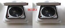 2PCS FAN-TASTIC VENT RV FAN 2250 SERIES 3 SPEED REV FLOW TSTAT 800225 OFF WHITE