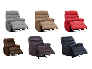 New-Microfiber-Pu-Leather-Chaise-Rocker-Recliner-Sofa-Chair-in-6-Colors