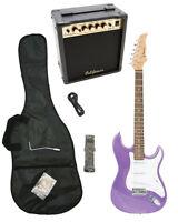 PURPLE Electric Guitar+15w AMP+Strap+Cord+Gigbag NEW