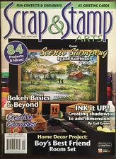 Scrap And Stamp Arts Scenic Stamping By Judi Kauffman Aug/Sep 2015 FREE SHIPPING