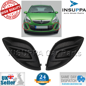 FRONT BUMPER FOG LIGHT GRILLE COVER SET FOR OPEL VAUXHALL CORSA D 11-14 1400866