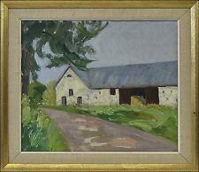 ALBERT KRÜGER (SWE, 1885–1965) »SOMMER AUF DEM LAND« SCHWEDEN SVERIGE 50 x 58 cm