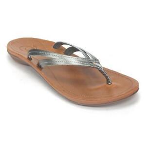 0dbf71d7ccb68 Women s OluKai U i Thong Sandal 10 M Pewter sahara for sale online ...